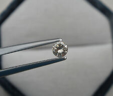 3.5mm champagne natural diamond loose faceted round 0.17 carats