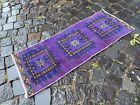 Vintage Turkish small rug, Handmade wool rug, Doormats, Decor rug   1,3 x 3,3 ft