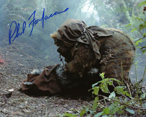 PHIL FONDACARO SIGNED AUTOGRAPHED 8x10 PHOTO EWOK WHO DIED STAR WARS BECKETT BAS