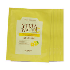 [Sample] [Skin Food] Yuja Water C Whitening Ampoule Mask Sheet x 5PCS