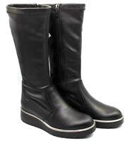 IGI & CO scarpe donna stivali stivaletti tronchetto pelle slip on zeppa tacco