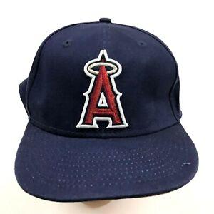 VINTAGE New Era Los Angeles Angels Hat Cap Snapback Womens Red Glitter Bill Logo