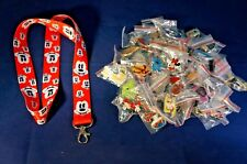 Disney World 25 Pin Trading Lot Lanyard Starter Set Mickey Mouse Heads Red