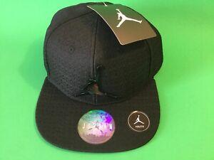 New JORDAN Jumpman Basketball NBA Youth Boys Snapback Cap Hat One Size Black