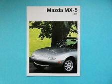 Prospekt / Katalog / Brochure Mazda MX-5 (NA) Roadster  03/94