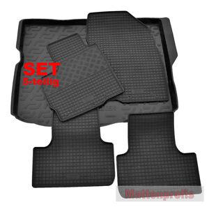 Set Gummimatten + PE Kofferraumwanne für Mitsubishi ASX ab 02/2010 - heute