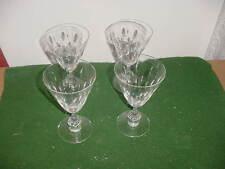 """Set of 4 Vintage Tiffin Cut Crystal Franciscan Willow 6 1/4"""" Stem Wine Glasses"""