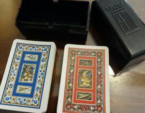 KEM Playing Cards - Cornucopia Harvest Fruit - 2 Decks with Case - Vintage 1955