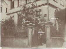 Foto Idar-Oberstein Ritterstrasse -Uhrkettenfabrik-Soldat mit Säbel 1.WK  (f639)