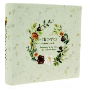 "Beige Slip In Photo Album 200 6"" x 4"" Photos Memo Area Wedding Home Flowers Gift"