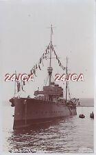 "Royal Navy Real Photo. HMS ""Dartmouth"" Light Cruiser. Torpedoed but saved. c1911"