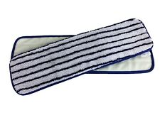 """5 18"""" Microfiber Premium Looped Mop Pads Wet Dry Refill 500GSM (Blue/White)"""