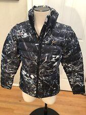 Women's Nike 438627-011 Camo down winter jacket/vest zip off sleeves EUC MEDIUM