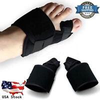 2 PCS Valgus Big Toe Bunion Straightener Splint Corrector Pain Relief Foot Care