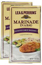 2 x Lea & Perrins Marinade In A Bag Roasted Garlic Balsamic 12oz (24oz total)