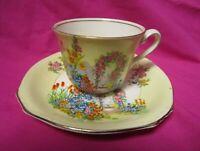 Royal Windsor Raised Flowers Fine Bone China England Tea Cup & Saucer
