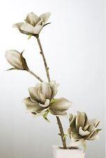 28513 FLOR FLOR DE LA ESPUMA aracati Blanco Gris con 4 Flores Largo 110cm