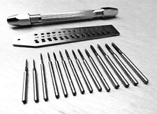 Mini Tap and Die Set 14 Taps & Screwplate & Pin Vise Set 0.7-2mm Jewelry Making