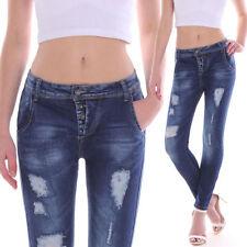 Damen-Jeans aus Baumwollmischung mit mittlerer Bundhöhe Hosengröße 38