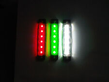 Red Green & White LED Navigation Light set Canal Narrow Boat Marine Yacht Barge