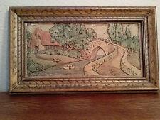 California Art Tile Co. framed senic tile