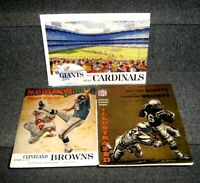 NOV 8 1959 OCT 13 1963 & OCT 24 1965 NEW YORK GIANTS LOT OF 3 OFFICIAL PROGRAMS