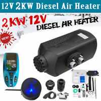 12V 2KW Diesel Air Heater Blue LCD Thermostat Metal Shell For Truck Car Boat Hot