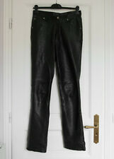 PANTALON CUIR - DOUBLURE CUIR - LEATHER CULT - TAILLE 38