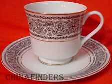 MIKASA china BRINDISI 5854 pattern Cup & Saucer - Set of Three (3)
