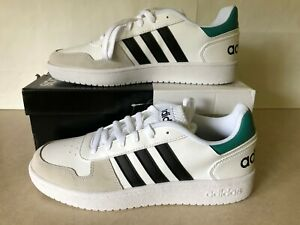 NWB Adidas Mens Hoops 2.0 Leather Cushioned Fashion Sneakers Shoes  Size 8.5