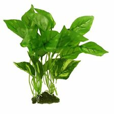 "AquasCaPing 11.8"" Height Green Plastic Grass Plant For Fish Tank Aquarium AD"