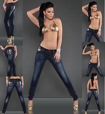 NEU Sexy Frauen Clubbing Skinny Jeans Damen Hose Slim Trouser Größe 8 10 12 14