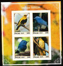 Indian Birds mnh souvenir sheet golden oriole imperf Delhi2