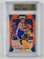 2017-18 Panini Prizm Steph Curry Orange Prizm /49 BGS PRISTINE POP 1! 🔥