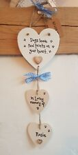 Dogs leave paw prints on your heart Pet memorial personalised plaque Handmade