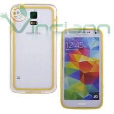 película + parachoques Amarillo transparente para Samsung Galaxy S5 G900F