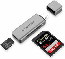LENTION USB C to SD 3.0 Micro SD Card Reader Adapter OTG for Galaxy S10 iPad Pro