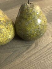 Mosaic Fruit Pears. Pre Own. Great Condition Unknown Brand. Crackled Glass