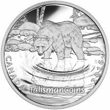 Canada 2016 Reflections of Wildlife #1 Grizzly Bear $10 Silver Proof Single Box
