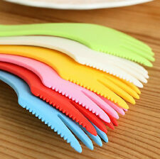 Newly Plastic Camping Hiking Travel Out Spork Utensil Spoon Fork Knife Cutlery