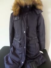 Marc New York Andrew Marc - NAVY Goose Down w/ Fur Hood - WOMEN Small