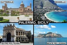 SOUVENIR FRIDGE MAGNET of PALERMO SICILY ITALY