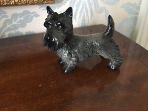 VINTAGE GOEBEL BLACK SCOTTY DOG FIGURINE SCOTTISH TERRIER PORCELAIN SCOTTIE