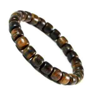 8mm Tube Agarwood Gaharu Zebra Borneo Aetoxylon Sp Beads Bracelet Free Shipping
