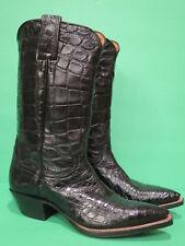Vintage Justin Full Alligator Ladies Cowboy Western Boots Custom