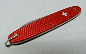 Victorinox / Elinox 84mm Model 2071 Ur+ Sentry Red Alox Swiss Army Knife Bail