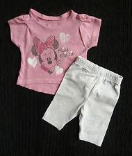Baby clothes GIRL newborn 0-1m<9lb/4.1k Disney Minnie Mouse pink top/leggings
