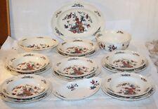 Wedgwood Keramik * Potpourri * Speise-Service 16-tlg * Blumen & Vogel * 12016