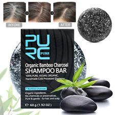 El tratamiento pelo negro gris blanco el color del cabello Tinte Cabello Champú Bar carbón de bambú