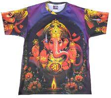 Lord Ganesha Hindu Dios hippie Goa Party DJ tattoo TIPO Fashion Camiseta XL